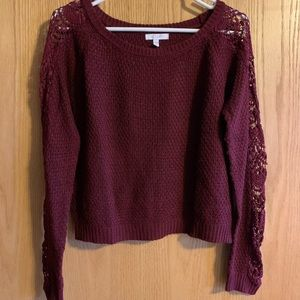 Maroon fall sweater